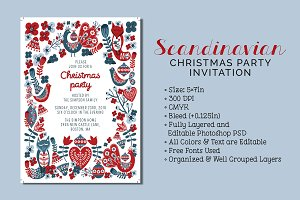 Scandinavian Christmas Party Invite