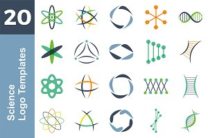 20 Logo Science Templates Bundle