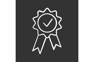 Award medal chalk icon