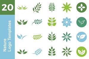 20 Logo Nature Templates Bundle