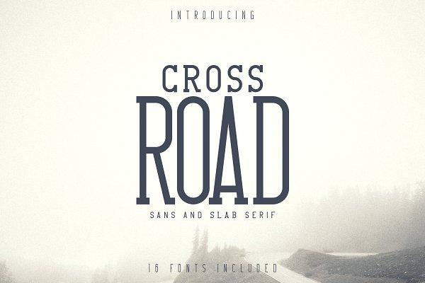 Crossroad -Vintage typeface 16 fonts