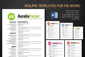 Simple elegant 3 in 1 Word resume