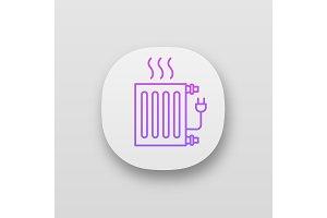 Electric radiator app icon