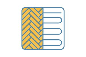 Floor heating system color icon