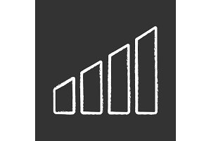 Power level chalk icon