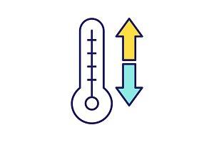 Climate control color icon