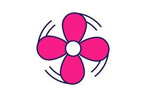 Air ventilation color icon