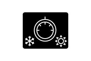 Climate control knob glyph icon