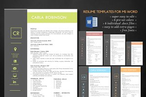 Elegant 2 in 1 Word resume templates