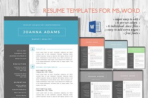 Big bar 2 pages Word resume