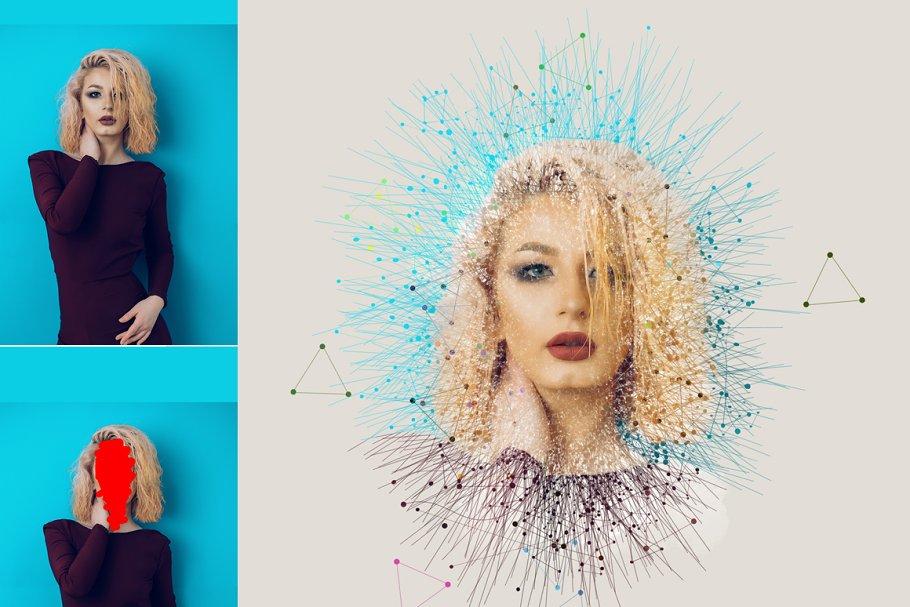 Geometric Effect Photoshop Action