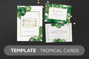 Template · Tropical Cards