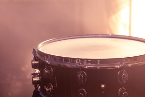 snare drum on beautiful background