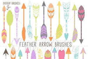 Feather Arrow Photoshop Brushes