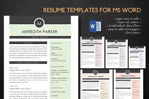 Modern 3 in 1 Word resume
