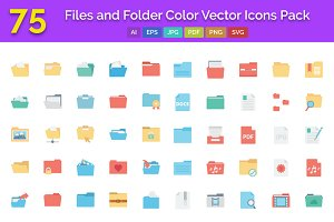 75 Files and Folder Color Icons