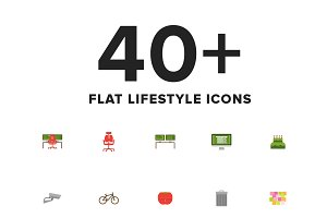 Lifestyle Flat Icon Set