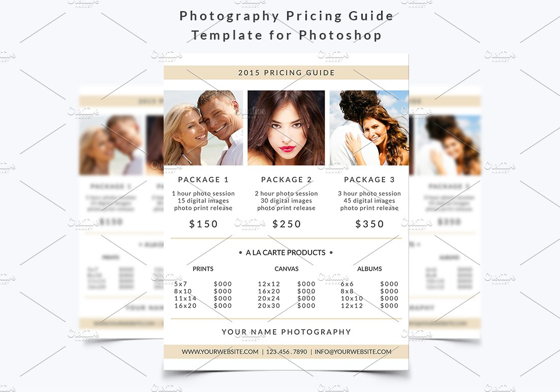 Photography Pricing Guide Template Flyer Templates Creative Market - Free pricing template for photographers