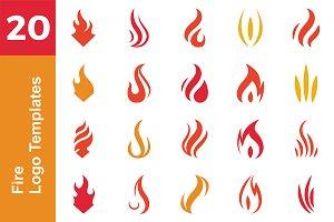 20 Logo Fire Templates Bundle