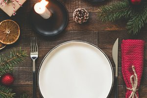Authentic Christmas Table Setting