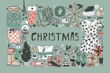 Christmas set, 8 patterns, 27 cards by  in Illustrations