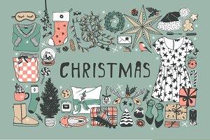 Christmas set, 8 patterns, 27 cards