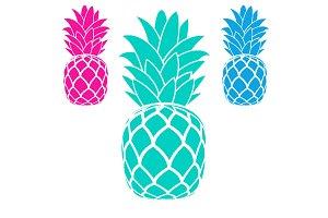 pineapples fruit logo