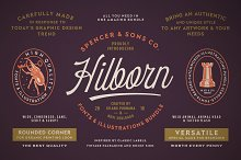 S&S Hilborn Font Bundle by  in Display Fonts
