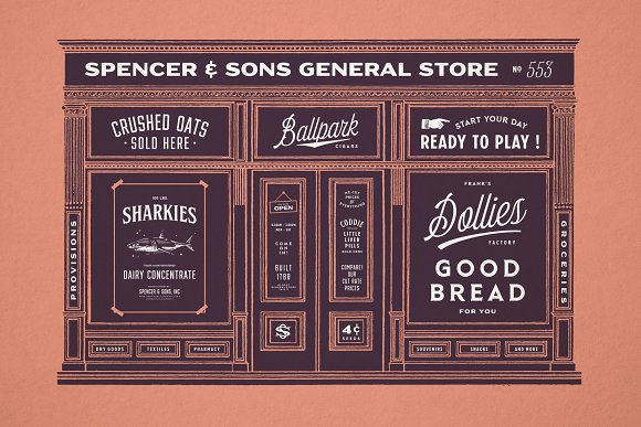S&S Hilborn Font Bundle in Tattoo Fonts - product preview 1