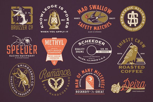 S&S Hilborn Font Bundle in Tattoo Fonts - product preview 3