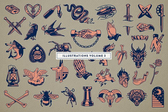 S&S Hilborn Font Bundle in Tattoo Fonts - product preview 6