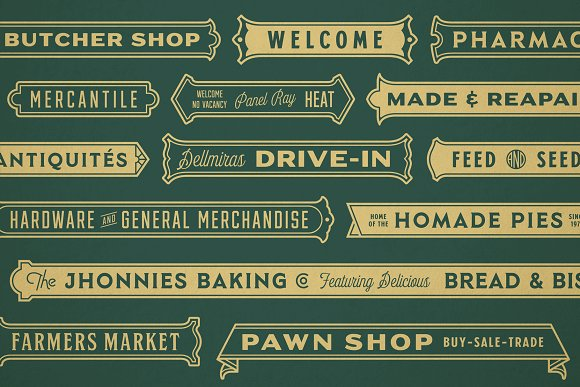 S&S Hilborn Font Bundle in Tattoo Fonts - product preview 9
