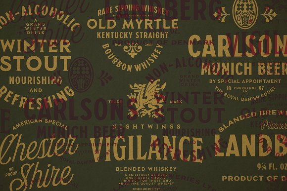 S&S Hilborn Font Bundle in Tattoo Fonts - product preview 13