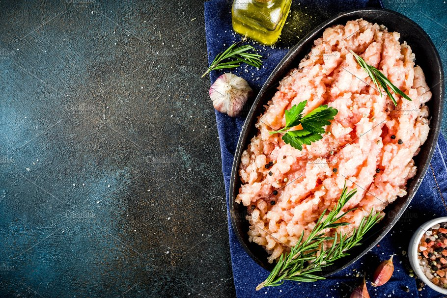 Homemade Minced Chicken Meat Food Images Creative Market
