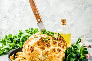 Homemade Whole Roasted Cauliflower