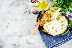 Homemade Whole Roasted Cauliflower