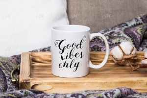 Cozy Home Mug Mock-up. PSD+JPG