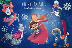 Nutcracker hand painted clipart