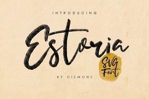 Estoria Script - SVG Font