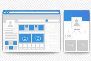 Mobile and desktop Facebook
