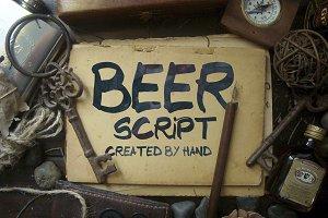Beer Script Typeface