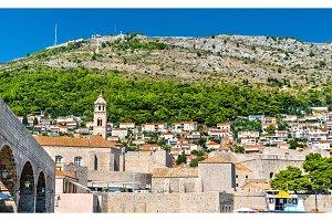 View of Dubrovnik town in Croatia
