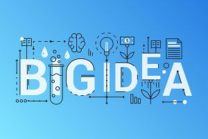 Big idea word concept template