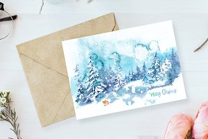 01. Christmas Watercolor Card