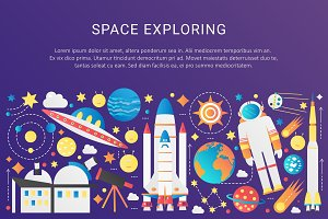 Galaxy space concept template