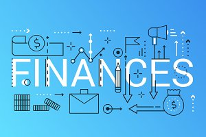 Finance business word concept