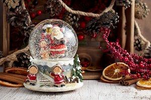 Musical Snow Globe with Santa Claus