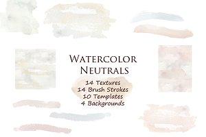 Neutral Backgrounds & Brush Strokes
