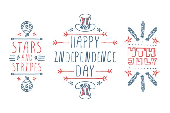 4th of July - typographical elements