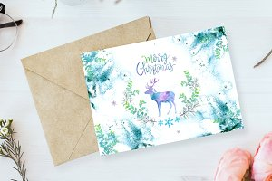 04. Christmas Watercolor Card